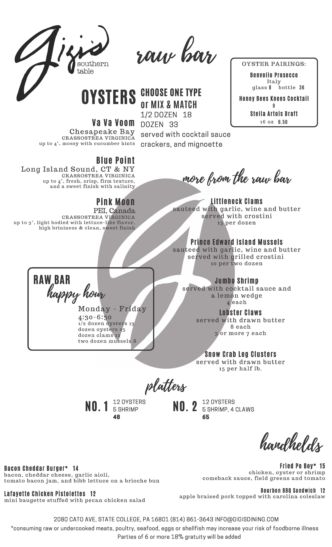 Brunch menu back 12/13/19