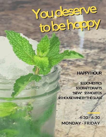 Gigi's happy hour menu